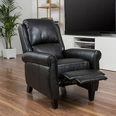 Shop for Haddan PU Leather Recliner Club Chair by Christopher Knight Home. Get free delivery On EVERYTHING* Overstock - Your Online Furniture Shop! Get in rewards with Club O! Leather Recliner Chair, Leather Sofa, Pu Leather, Black Leather, Recliner Chairs, Arm Chairs, Dining Chairs, Leather Chairs, Lounge Chairs