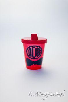 Monogrammed+Sippy+Cup++Bow+Tie++Custom+Birthday+by+ForMonogramSake,+$4.00