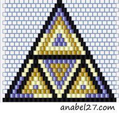 Brick stitch triangle by tonya Beaded Earrings Native, Beaded Earrings Patterns, Seed Bead Patterns, Native Beadwork, Peyote Patterns, Beading Patterns, Seed Bead Projects, Beaded Banners, Bead Earrings