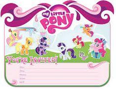 Resultado de imagen para invitaciones de cumpleaños para imprimir de my little pony