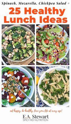 Gluten Free Recipes For Lunch, Heart Healthy Recipes, Salad Recipes, Diet Recipes, Eat Happy, Chickpea Salad, Mediterranean Recipes, Lunch Ideas, Mozzarella