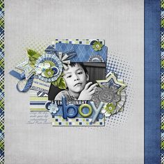 Digital Scrapbook Layout by Ophelia |   Boy Extraordinary Kit | Bella Gypsy Designs