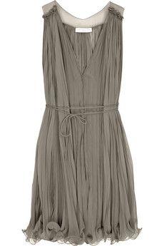 Stella McCartney Pleated chiffon dress | NET-A-PORTER