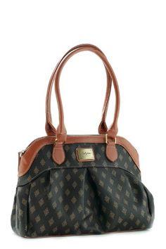 Patzino, P.U. Leather, Women Shoulder Bag, BO44, Brown, diamond shape style,