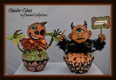 Two new Halloween Folk Art Ghoulie-Cakes by LeeAnn Kress of Charmed Confections.  These guys will be available to purchase on SpookyTime Jingles May 13th!  Here is the site:  www.spookytimejingles.com.  So see more Charmed Confections' Artwork go to www.charmedconfections.blogspot.com
