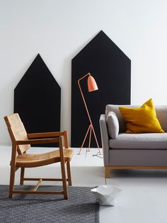 kråkvik & d'orazio - emmas designblogg- chalkboard house would be great in a kids room