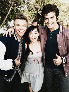 Brett Davern, Ashley Rickards & Beau Mirchoff MTV's Awkward - I really like this show. You could call it a guilty pleasure.