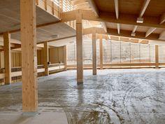 Wood parking garage.  AIX Architecture / Arkitekter Skelleftea Sweden