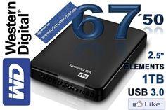 Western digital HDD 1TB USB 3.0 por 67,50€