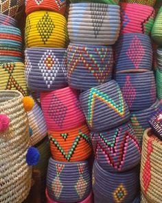 panier marrakech — #berberbaskets #wovenbaskets #handwovenbasket...