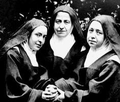 Thérèse's sisters Céline, Pauline & Marie, respectively Soeur Geneviève de la Sainte-Face, Mère Agnès de Jésus & Soeur Marie du Sacré-Coeur