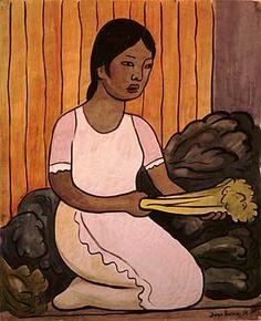 Diego Rivera - Vegetable Seller (Vendedora de legumbres) watercolor on paper 1937