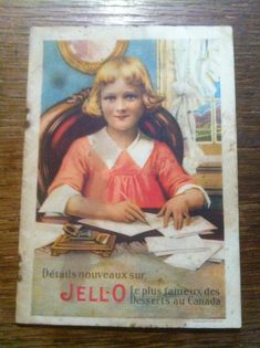 18$ Jell-O Feuillet publicitaire - Carnet recettes desserts - The Genesee Pure Food Co. of Canada, Ltd. Bridgeburg Ontario. Dimensions: 16 cm X 11 cm - 12 pages + feuillet recto-verso Années 1920 environ