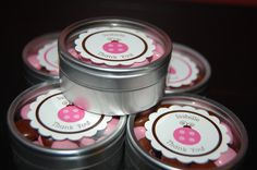 Ladybug Baby Shower Party Favors | ... topped with an adorable ladybug tag also created by Ladybug Labels