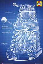 Doctor Who - Haynes Dalek Blue Print Poster #13 61 x 91.5cm. FREE DELIVERY