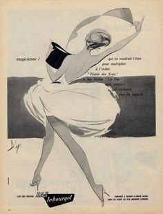 Le Bourget (Stockings) 1958 Illustration by Diaz