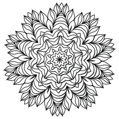 "- Product: ColorMe Decal, children and adult coloring activity - Design: mandala with geometric floral and leaf elements - Sizes: 8""w x 8""h; 15""w x 15""h; 24""w x 24""h; 36""w x 36""h - Intricacy level: lo"