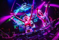 Insanity Nightclub at Sukhumvit Soi 11 invited to a night with the duo, NERVO, the highest ranking women in the DJ Mag's Top 100 DJ list, currently. Girl Dj, The Dj, Night Club, Edm, Street Art, Dance, Concert, Youtube, Graffiti