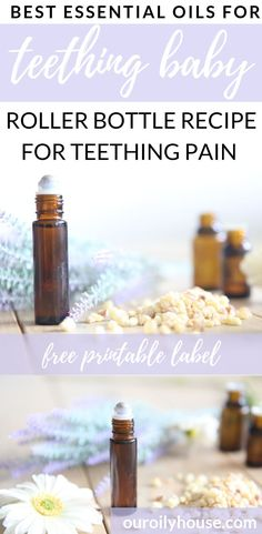 Learn which essential oils are best for teething pain with roller bottle recipes. Using essential oils safely on baby with dilution chart. Essential Oils For Teething, Essential Oils For Babies, Best Essential Oils, Young Living Essential Oils, Essential Oil Blends, Baby Teething Remedies, Teething Baby Relief, Teething Chart, Roller Bottle Recipes