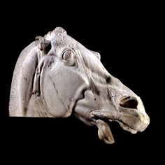 Head of a horse of Selene from the east pediment of the Parthenon Acropolis, Athens - BC - British Museum, London, England Ancient Greek Art, Ancient Greece, Ancient History, European History, Ancient Aliens, Ancient Egypt, American History, Roman Art, Horse Sculpture