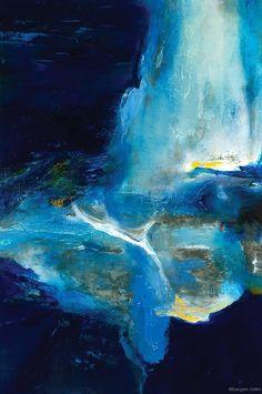 Blu Again - Sargam Griffin (60x40cm huile)