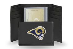 St Louis Rams Team Embroidered Leather Trifold/Wallet
