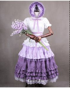 Classical Puppets Victorian Lavender Lolita Underskirt Petticoat 4 Pieces #lolita  #petticoat