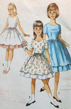 Vintage Girl's Dress Sewing Pattern