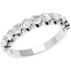 Elegant Round Brilliant Cut diamond eternity ring in 18ct white gold by TheGemDiva on Etsy https://www.etsy.com/listing/237045554/elegant-round-brilliant-cut-diamond