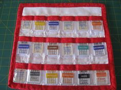 Sewing Machine Needle Organizer- Tutorial - I like that you keep the original container