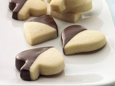CHOCOLATE-DIPPED SHORTBREAD COOKIES http://www.bettycrocker.com/recipes/chocolate-dipped-shortbread-cookies/6480cf3c-f19c-49cc-b9b2-d17fbe35dee2?src=SH #Cookies