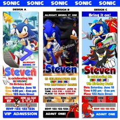 Sonic The Hedgehog Birthday Party Invitations  by iCelebration, $12.99