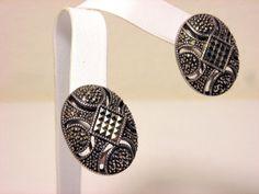 Judith Jack Marcasite Earrings Sterling Silver 17.20 Grams Pierce #JudithJack #DropDangle