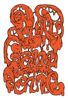 × typography   #graffiti #slime #orange