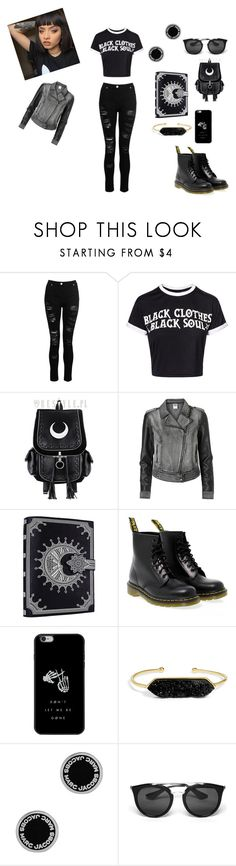"""Untitled #1804"" by shadow-dxlvi ❤ liked on Polyvore featuring Vero Moda, Dr. Martens, BaubleBar, Marc Jacobs and Prada"