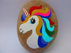 UNICORN Painted Rock Acrylic paints, river rock, matte finish Size: 2.75 x 2.25 x 1 inch Thank you for visiting my shop