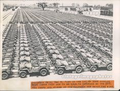 River Pines Jeeps — A couple thousand jeeps awaiting. Jeep Willys, Willys Wagon, Old Jeep, Jeep Tj, Jeep Truck, Ford Capri, Army Vehicles, Armored Vehicles, Surplus Militaire