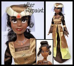 ooak repainted medieval party tiana doll. by verirrtesIrrlicht.deviantart.com on @DeviantArt
