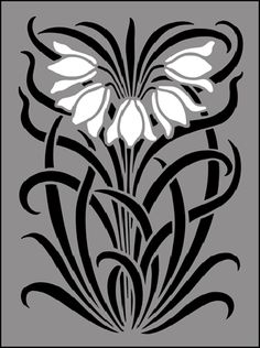 Art Nouveau Motif No 53 stencils, stensils and stencles