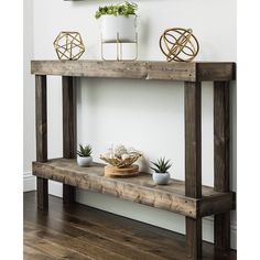 Sofa Table Decor, Couch Table, Table Decorations, Accent Table Decor, Sofa Table Styling, Sofa Table Design, Table Behind Couch, Rustic Luxe, Rustic Vintage Decor
