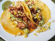 blackened salmon tacos with jalapeno corn salsa   bloom and nourish