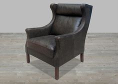 Mountain Black Leather Armchair