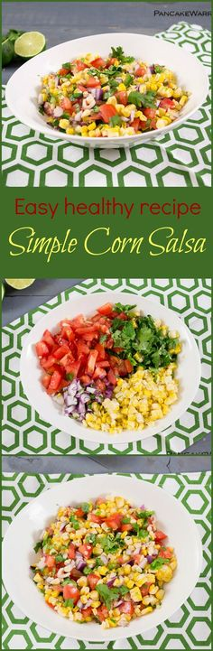 Don't end the summer without getting your fill of sweet corn! This Mexican inspired corn salsa is perfect on your tacos or burrito bowls! Gluten free, vegan and easy to make!