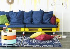 Tee sohva kuormalavoista | Meillä kotona