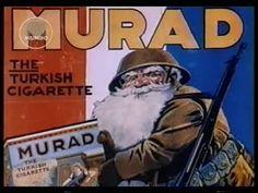 Papai Noel Fazendo propaganda dos Cigarros Murad