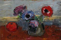 Alexandru Ciucurencu ( 1903-1977 ) NATURĂ STATICĂ CU ANEMONE ŞI ... Anemone, Paintings, Artist, Image, Paint, Painting Art, Artists, Painting, Painted Canvas