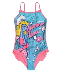 Elipcis   why pay more - Cute Smurfs Swimsuit   Pink , £9.95 (http://www.elipcis.com/copy-of-cute-smurfs-swimsuit-fuchsia/)