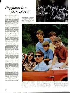 LIFE July 30, 1965.  Men's hair styles Valley College, College Library, Body Adornment, Men's Hair, Shaggy, Hair Looks, The Beatles, 1970s, Hair Cuts