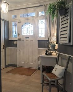 Time for some fun after a busy day painting our hall and him laying the tiles in the downs stairs loo 🙁 start one job it creates another 😉 cheers lovelies 🍸🍽🍾Cxx Architectural Features, Leaded Glass, Mudroom, Tiles, Entryway, Sweet Home, Stairs, Architecture, House
