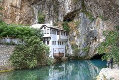 Dervish house in Blagaj Buna, Bosnia and Herzegovina - Pixdaus